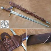 12th Century Two Handed Medieval Sword & Sheath